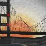 Humber Bridge powder painting